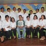Admin. Asst. Monahan with the 17 Lupon Tagapamayapa's