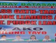 Purok Oath-taking