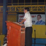 Capt. Abad delivers his speech.