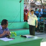 Capt. Abad is introduced as the speaker in the State of the Barangay Address.