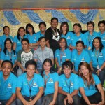 Capt. Abad with the Secretaries and Office Staff