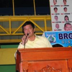 Kgd. Mangune expresses his support towards all projects of the Barangay Council.
