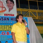 Kgd. Santos expresses his support towards all projects of the Barangay Council.