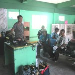 Purok Leader Dimzon trains new volunteers.