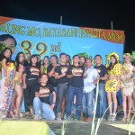 The candidates in the Search for Miss Batasan Hills 2015 with the members of the Barangay Council