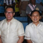 The immediate past Barangay Captain and the present Barangay Captain