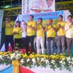 The members of the Barangay Council applauds for Capt. Abad.