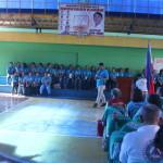 Capt. Abad recognizes the Batasan Hills Fire Brigade. (1)