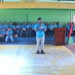 Capt. Abad recognizes the Batasan Hills Fire Brigade. (5)