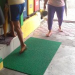 Capt. Abad purchases rubber mats to prevent people from slippering. (2)