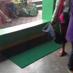 Capt. Abad purchases rubber mats to prevent people from slippering. (3)