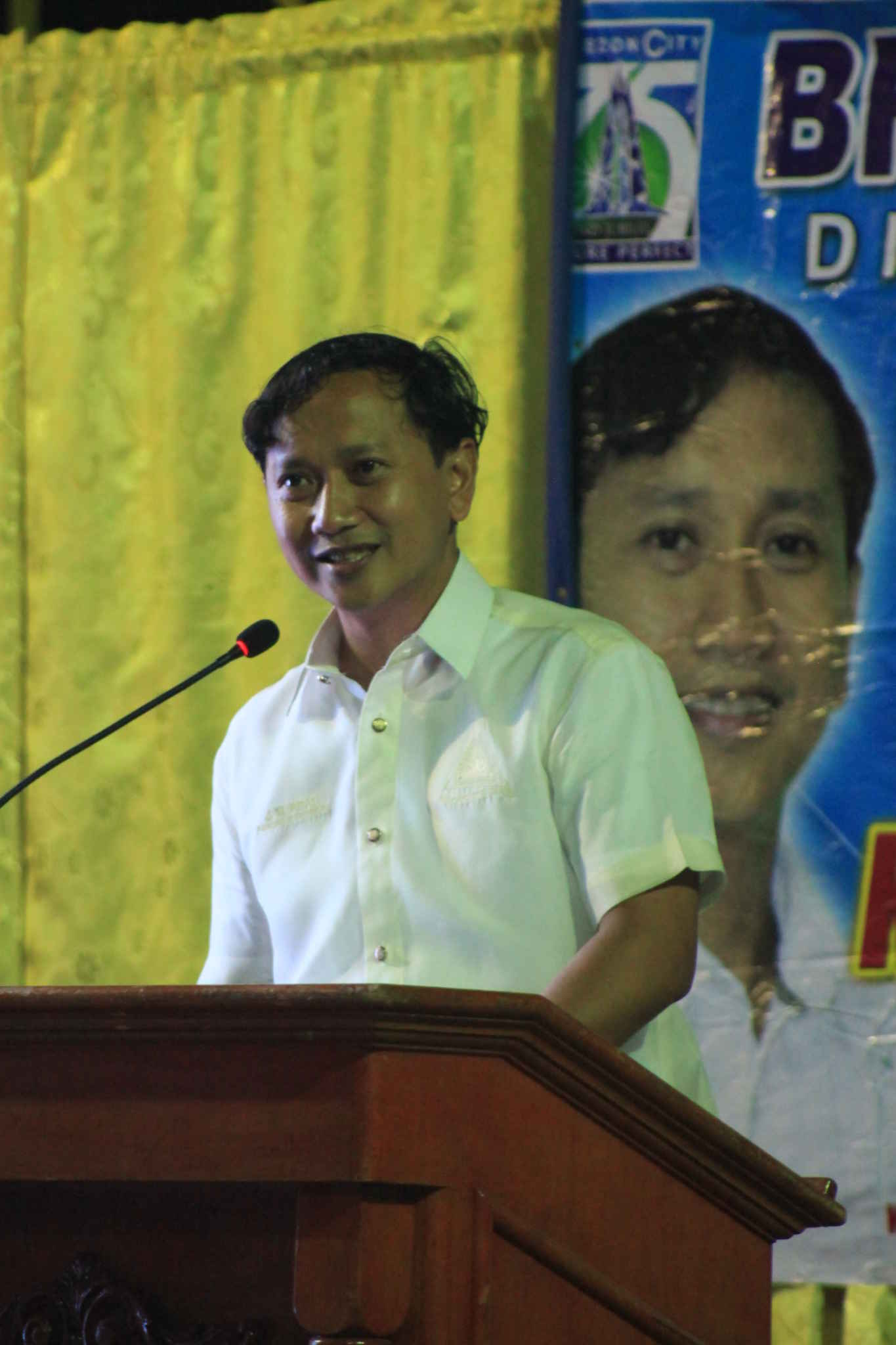 Capt. Abad reports the state of the barangay. (38)
