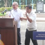Capt. Abad witnesses unveiling of heritage tree marker in Congress. (112)