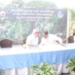Capt. Abad witnesses unveiling of heritage tree marker in Congress. (113)