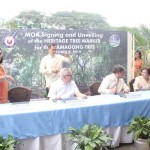 Capt. Abad witnesses unveiling of heritage tree marker in Congress. (116)