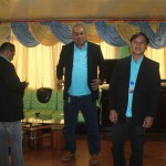 Coun. Medalla gives the barangay council members new suits. (1)