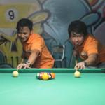 Capt. Abad and Kgd. Santos represent Batasan Hills in Haligi ng mga Barangay Mini-Olympics 2015 – Husay sa Billiards. (1)