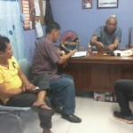 A suspected drug trafficker is presented to Peace and Order Committee chairmen. (1)