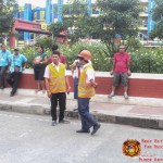 Barangay employees assist BHNHS students during earthquake drill. (10)