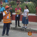 Barangay employees assist BHNHS students during earthquake drill. (11)