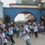 Barangay employees assist BHNHS students during earthquake drill. (16)