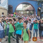 Barangay employees assist BHNHS students during earthquake drill. (17)