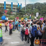 Barangay employees assist BHNHS students during earthquake drill. (18)