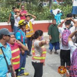 Barangay employees assist BHNHS students during earthquake drill. (19)
