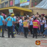 Barangay employees assist BHNHS students during earthquake drill. (20)