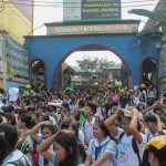 Barangay employees assist BHNHS students during earthquake drill. (23)