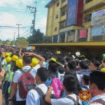 Barangay employees assist BHNHS students during earthquake drill. (25)
