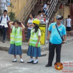 Barangay employees assist BHNHS students during earthquake drill. (8)