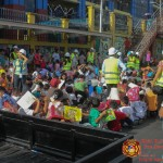 Barangay employees assist PCCAES pupils during earthquake drill. (18)