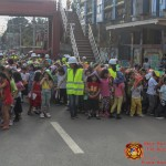 Barangay employees assist PCCAES pupils during earthquake drill. (28)