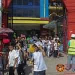Barangay employees assist PCCAES pupils during earthquake drill. (33)