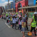 Barangay employees assist PCCAES pupils during earthquake drill. (34)