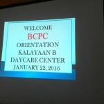 BCPC Orientation at Kalayaan B Daycare Center (1)