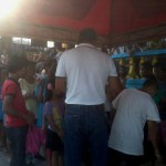 Kgd. Miras gives away groceries and cash to Consti residents. (10)