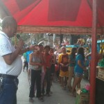 Kgd. Miras gives away groceries and cash to Consti residents. (3)