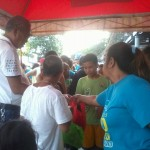 Kgd. Miras gives away groceries and cash to Consti residents. (7)