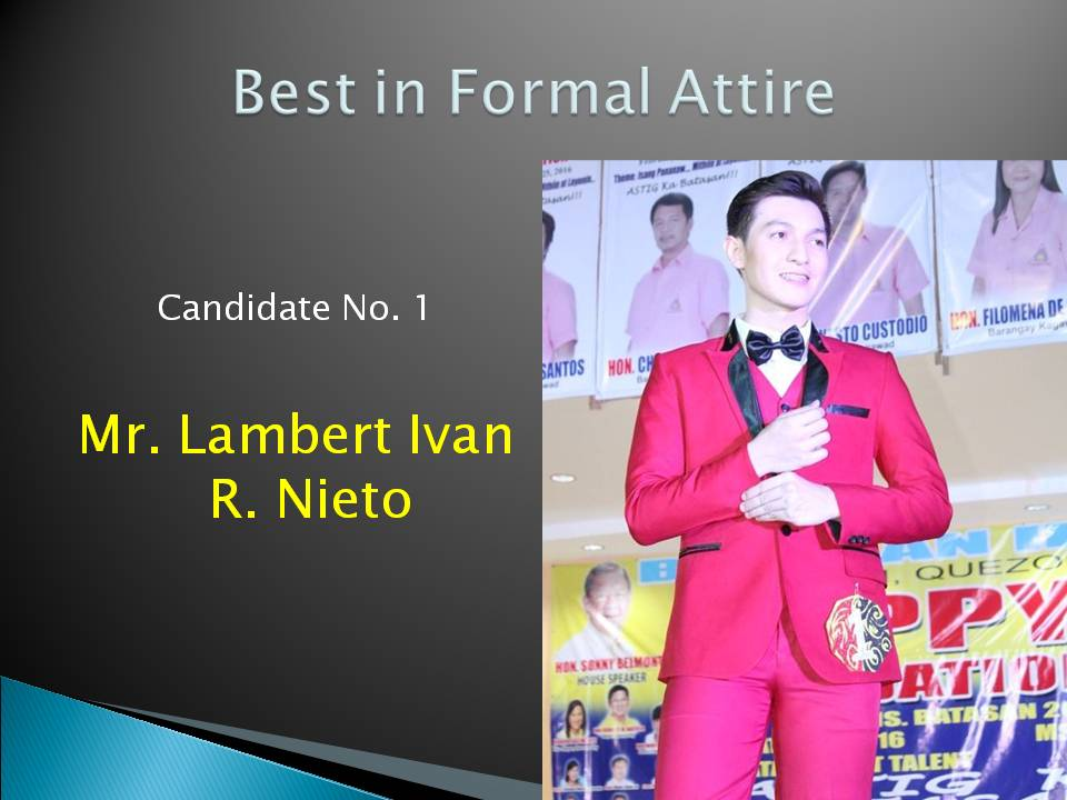 Best in Formal Attire