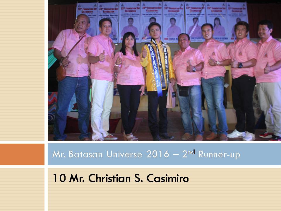 Mr. Batasan Universe 2016 - 2nd Runner-up