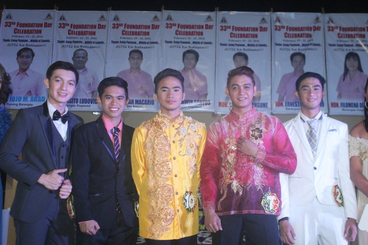 Mr. Batasan Universe 2016 Finalists