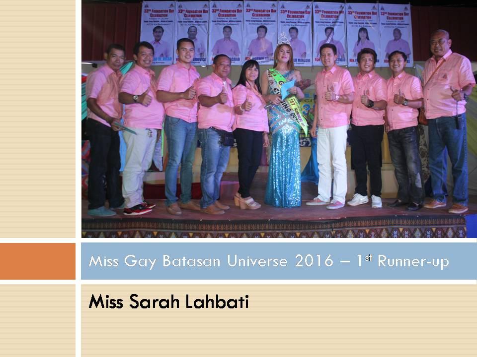 Miss Gay Batasan Universe 2016 - 1st Runner-up