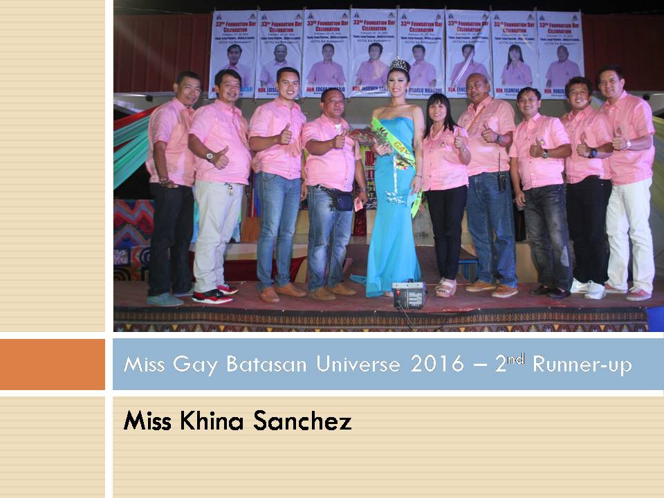 Miss Gay Batasan Universe 2016 - 2nd Runner-up