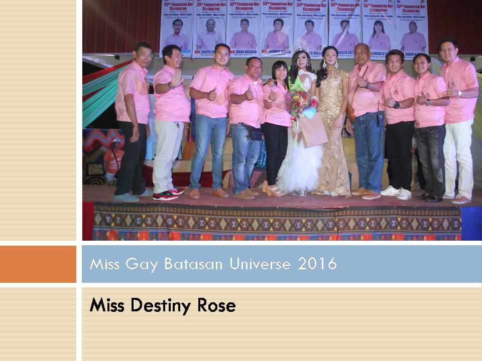 Miss Gay Batasan Universe 2016