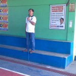 Capt. Abad gives reminders to TUPAD workers. (1)