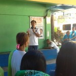 Capt. Abad gives reminders to TUPAD workers. (2)