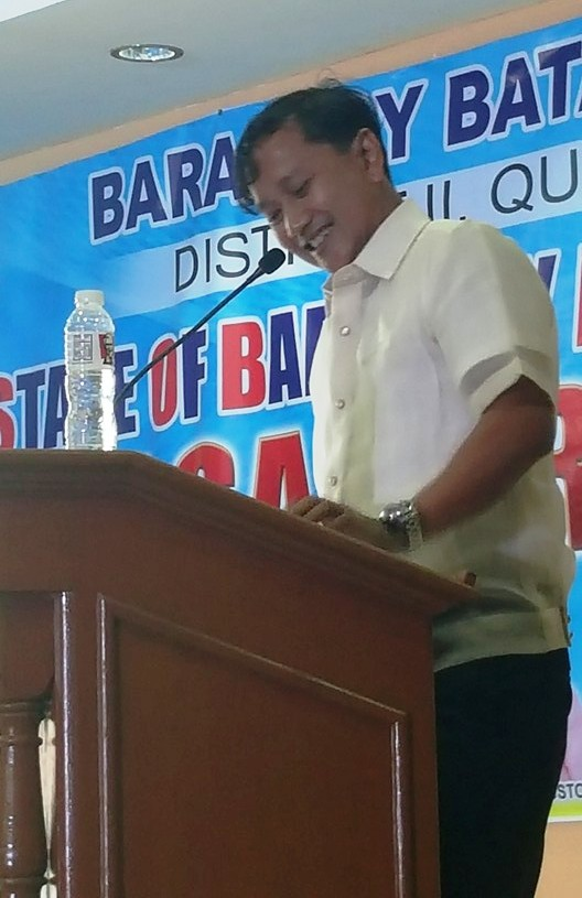 Capt. Abad reports the state of the barangay for the 5th time.