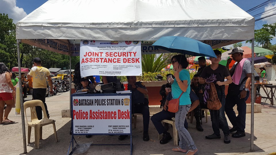 The Batasan Hills Council enforces all possible assistance on election day (25)